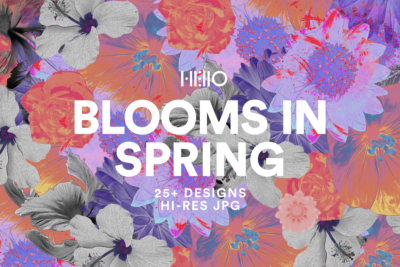 floral digital design patterns from new visual things and hello creative