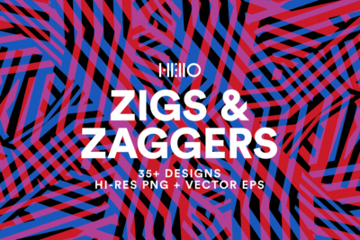 zig zag digital pattern designs from new visual things and hello creative