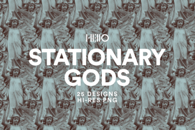 stationary gods statuesque digital designs from new visual things and hello mart
