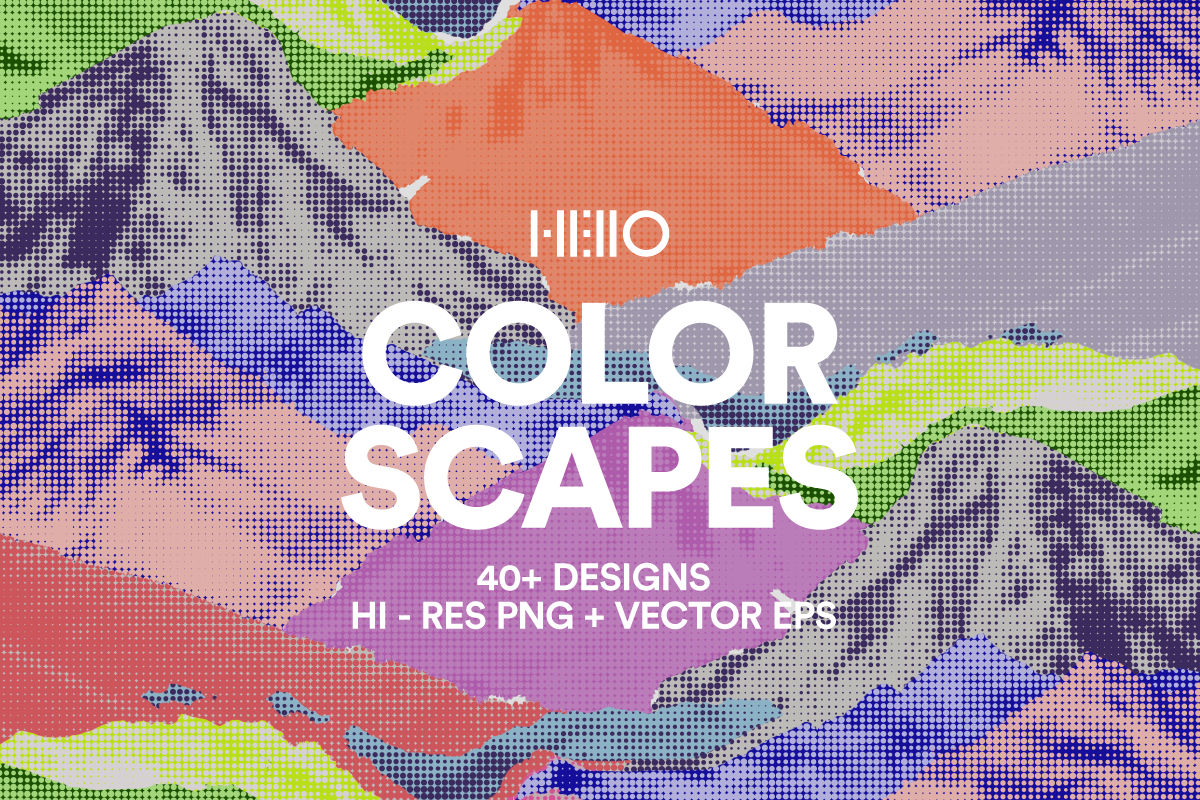 Colorful Landscape patterns and digital designs from new visual things and hello creative