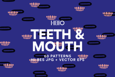 teeth and mouth digital patterns from new visual things and hello creative