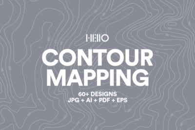 contour mapping digital designs from real maps - graphic patterns from new visual things and hello creative