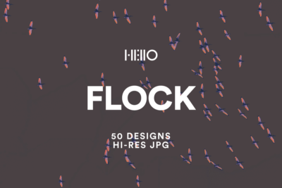 flock bird-like digital patterns from new visual things and hello creative