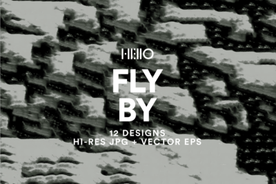 retro black and white flying digital designs from hello creative