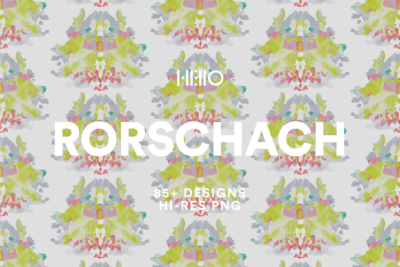 rorschach inspired digital patterns from new visual things and hello creative