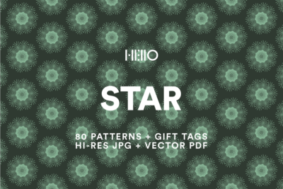 digital star like patterns from new visual things and hello creative
