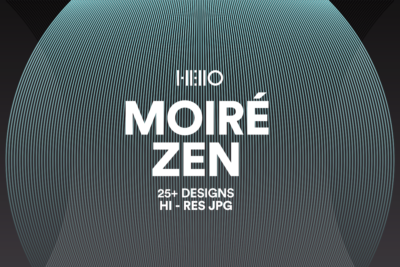 Moire Zen gradient with blended shape patterns from new visual things and hello creative