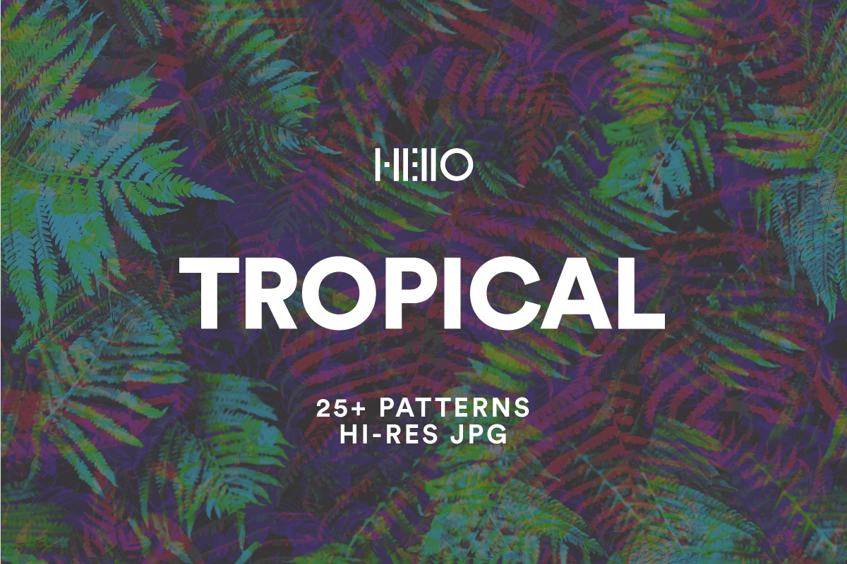 tropical patterns - pastel, vibrant and muted designs