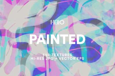 abstract colorful painted digital designs from new visual things and hello creative