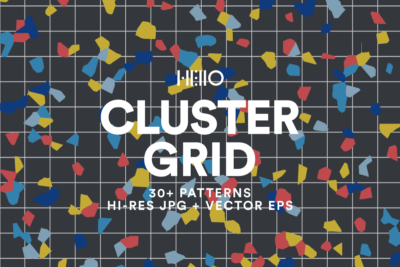 cluster grid colorful and creative memphis style pattern set