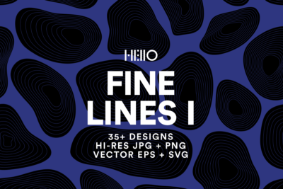fine lines curved organic patterns black and white designs from new visual things and hello creative