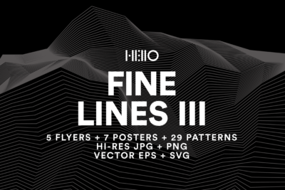 Fine Lines III - on-trend, edgy with optical effects at Hello Mart