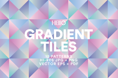 geometric pastel gradient digital designs from new visual things and hello creative