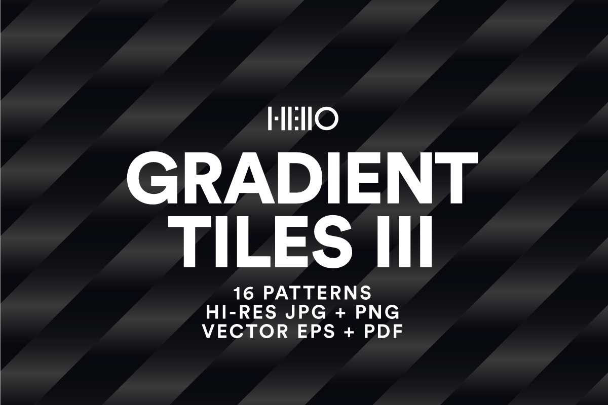 black and white Gradient Tile patterns from Hello Mart