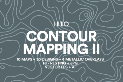 contour mapping 2 art pack peaks of north america from new visual things and hello creative