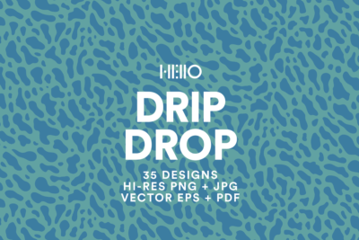drip drop water droplet patterns and digital art elements from new visual things and hello creative