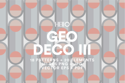 Geo Deco III Shanghai Collection in soft, pastel colors digital designs from new visual things and hello creative