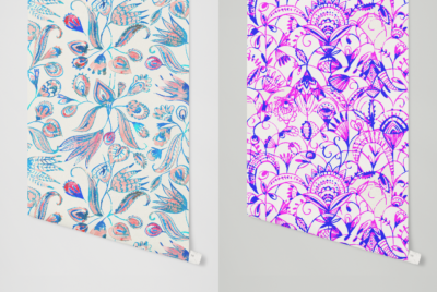 lace illustrations and seamless patterns
