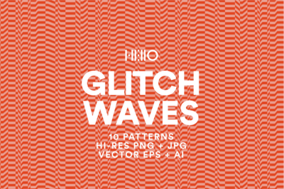 glitch waves seamless analog vector pattern in orange from new visual things and hello creative
