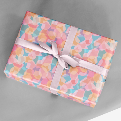 cut out collage wrapping paper