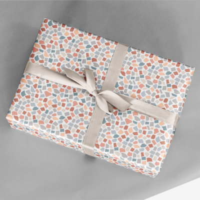 torn paper collage gift wrap