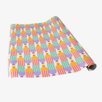 geo deco gift wrap colorful wrapping paper