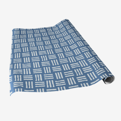 veggie stamp gift wrap blue lined wrapping paper