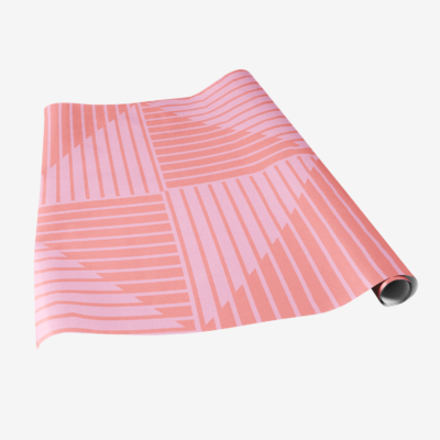 modern pink striped gift wrap chromasect wrapping paper