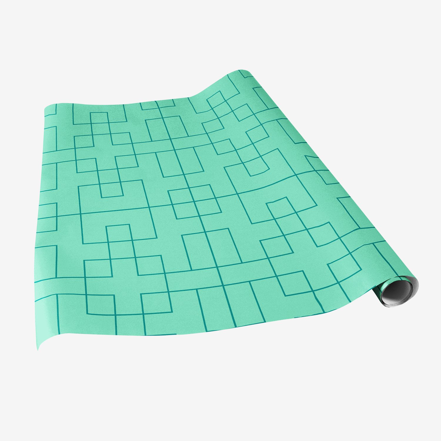 lattice gift wrap bright teal wrapping paper