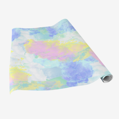 fluffy clouds colorful pastel gift wrap