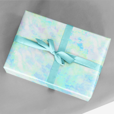 fluffy clouds gift wrap