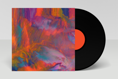 album cover with colorful versichrome abstract art
