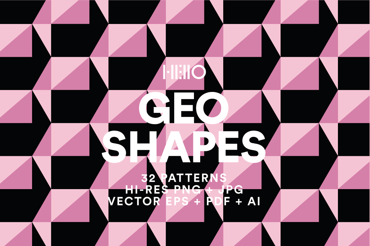 geo shapes digital geometric designs from new visual things and hello creative