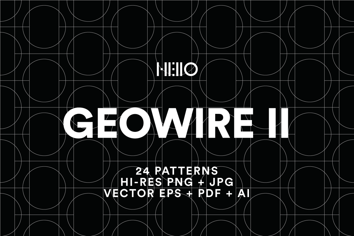 geowire patterns digital art pack from new visual things and hello creative