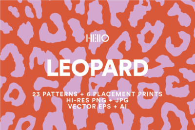 leopard print digital design patterns from new visual things and hello creative