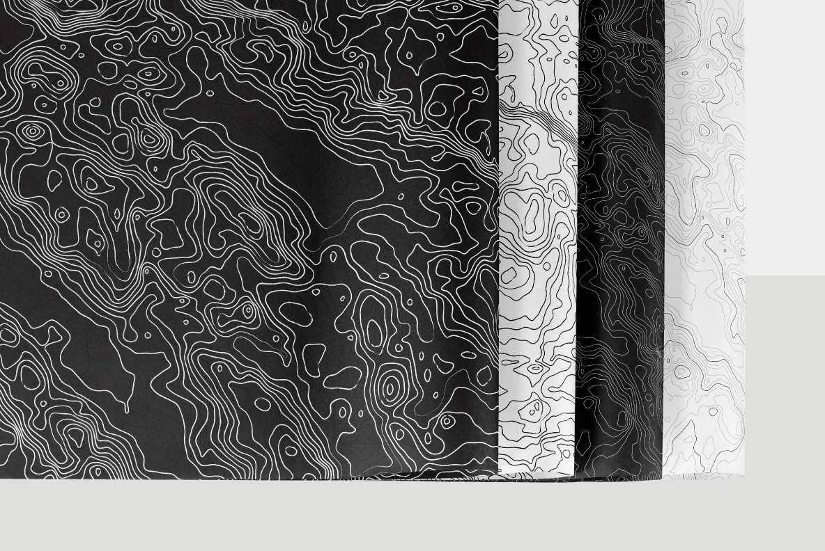black and white napa valley topographic map contour patterns
