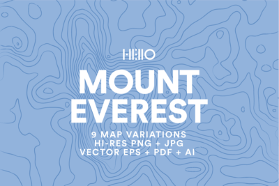 mount everest topographic map patterns from new visual things and hello creative