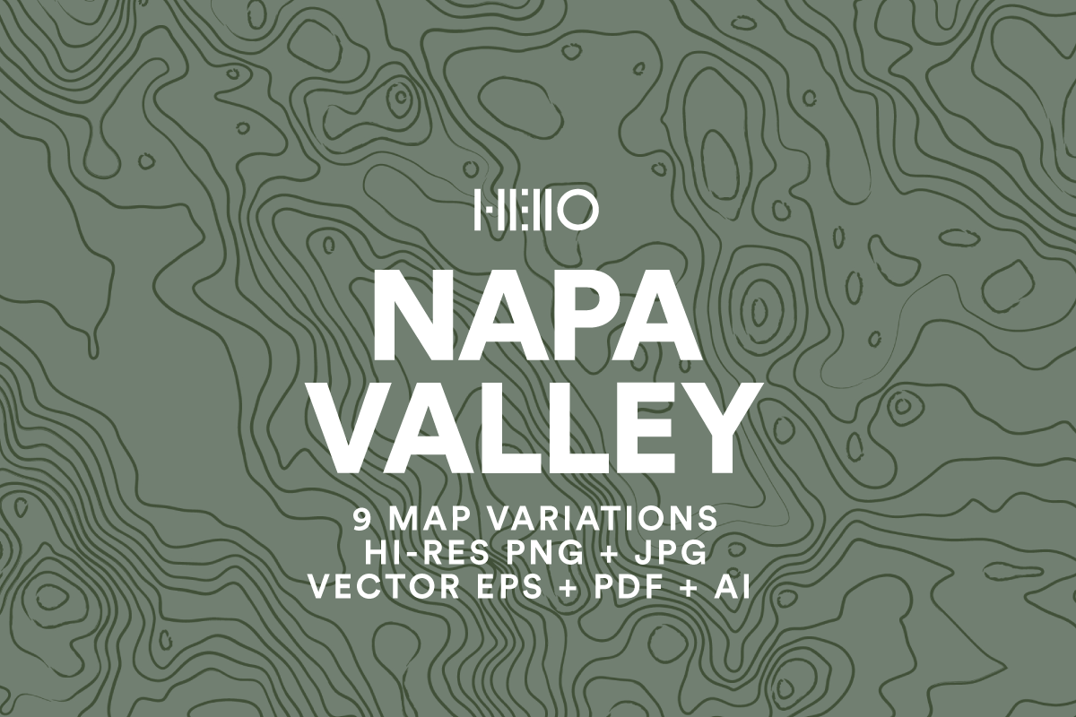 napa valley topographic map pattern from new visual things and hello creative