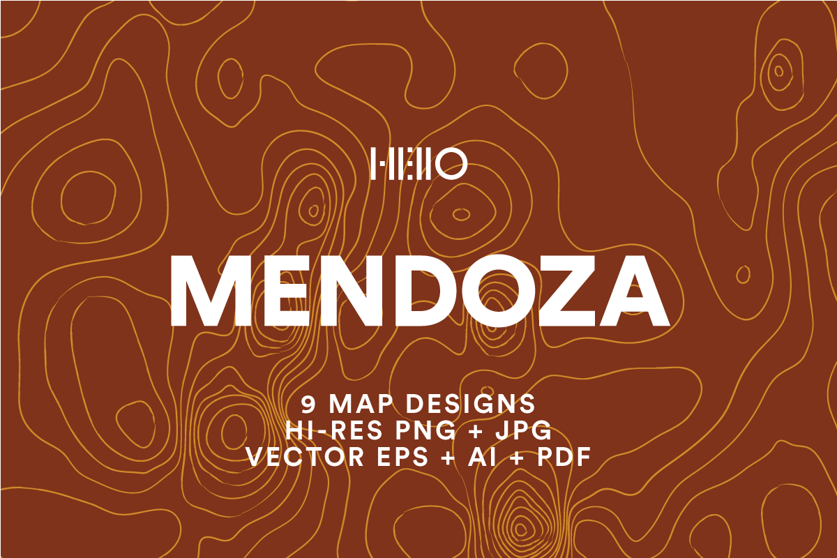 mendoza topographic map designs from new visual things and hello creative
